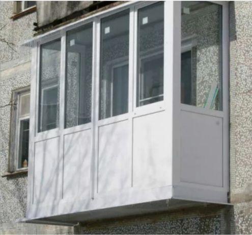 Балкон под ключ, окна, двери.