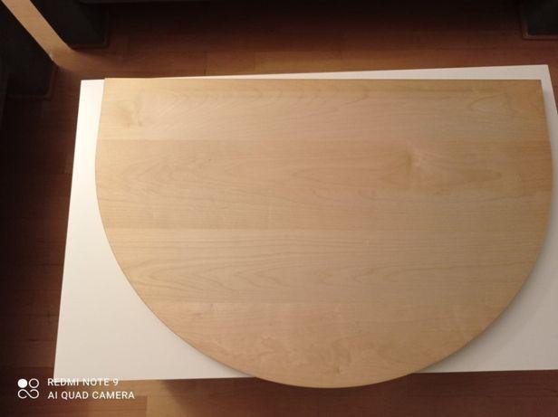 Półka obrotowa pod sprzęt RTV, 80x53x3 cm, kolor sosna