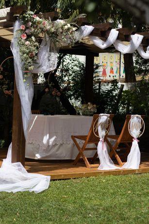Tecidos casamento e Véu