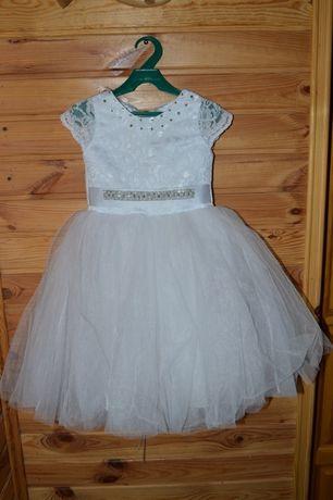 Платье снежинки белое
