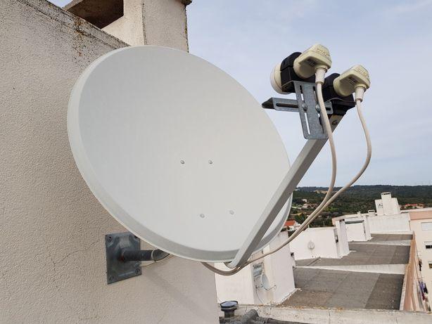 Antena parabólica+receptor satélite