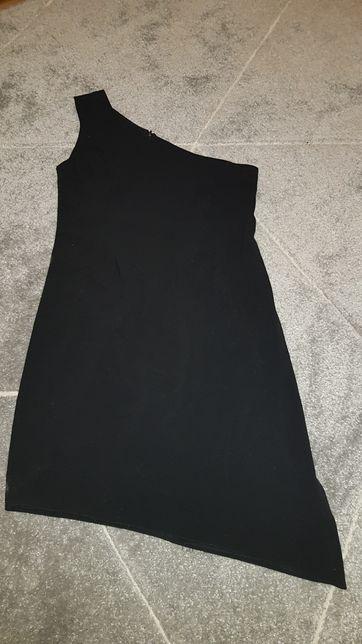 Sukienka czarna na jedno ramię rozmiar S