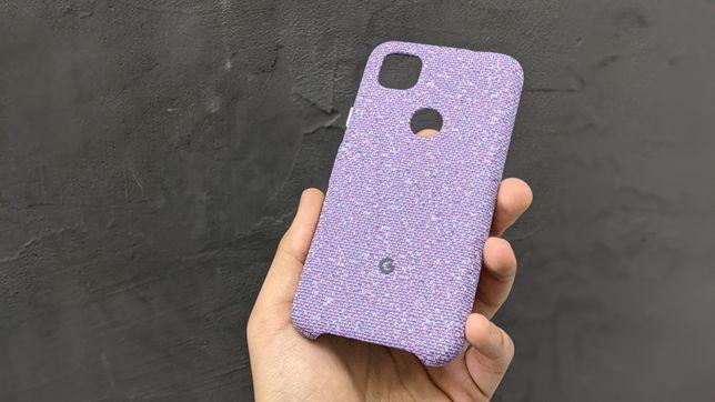 New Google Pixel 4A Фиолетовый Тканевый Чехол Чохол Кейс Эксклюзив