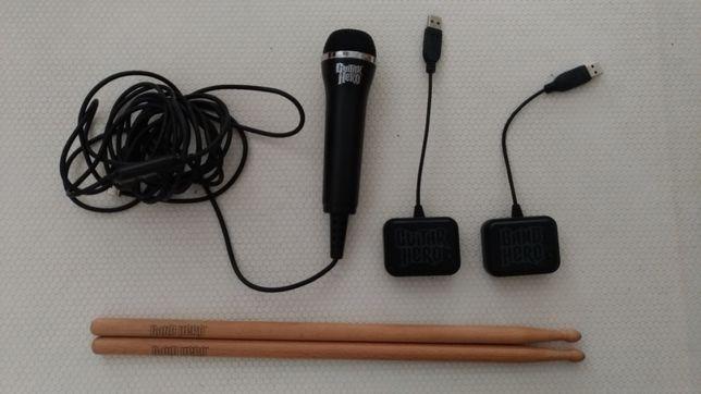 Band hero + Microfone + Cabos de ligação à ps3