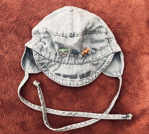 Czapka jeansowa chłopięca wiosna/lato r. 47 cm Maxikids!