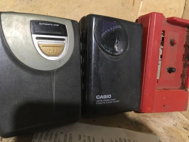 плеер кассетный старый на запчасти б.у. недорого