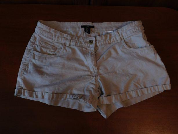 Белые шорты короткие h&m