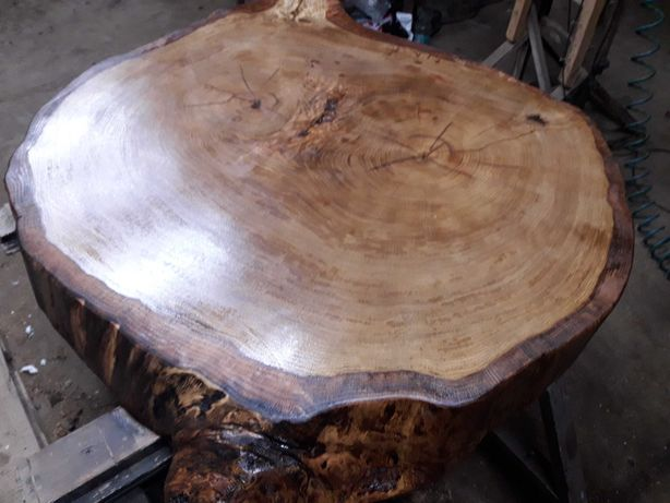 Dąb plaster stolik stół blat loft