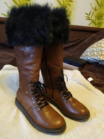 Женские ботинки зима размер 39 кожа