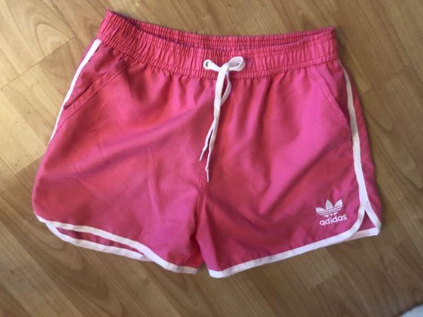 Spodenki adidas różowe sportowe rozmiar M