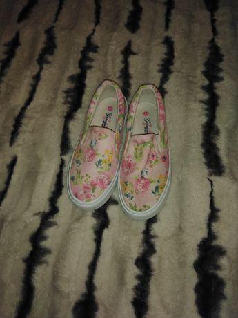 Buty tenisówki kwiatki