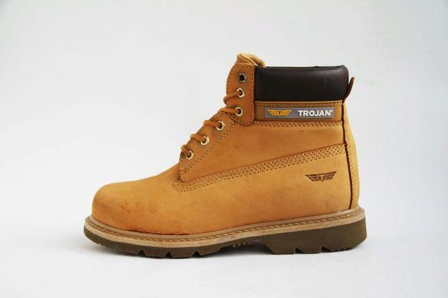 ботинки кожаные с металическим носком Trojan