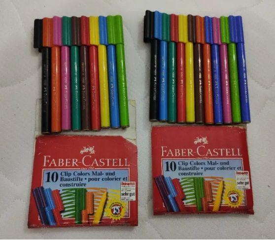 Faber-Castell 19 canetas filtro 7€