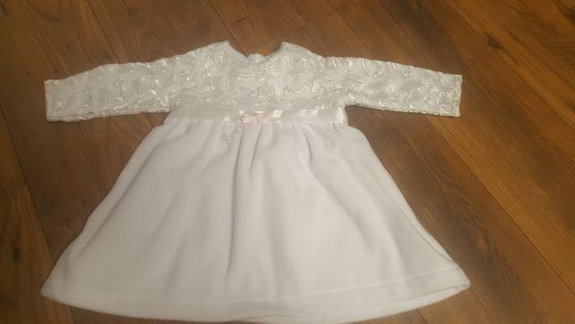 Sukienka polar koronka do chrztu 80