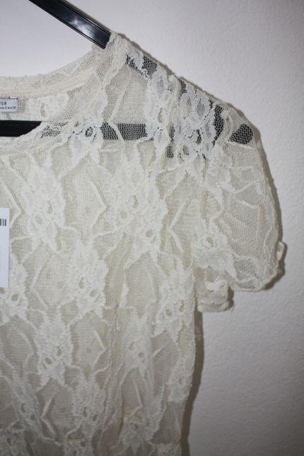 Vestido Rendado Branco Zara