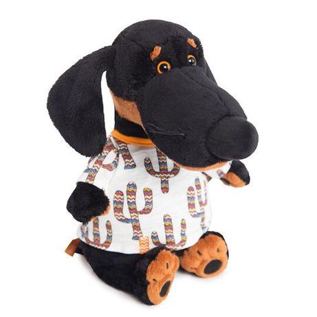 Мягкая игрушка Budi Basa Собака Ваксон в футболке в кактусы, 25 см