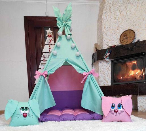 Детский вигвам палатка зайчик,игровой домик