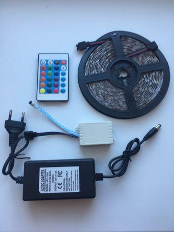 Лента LED 5050 RGB 16 цветов Комплект (Пульт+Контроллер+Блок питания)