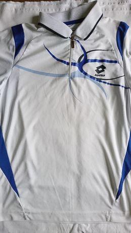 bluzka koszulka polo t schirt biały lotto