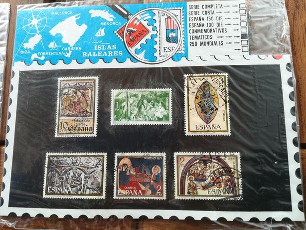 10 selos temáticos Embalados