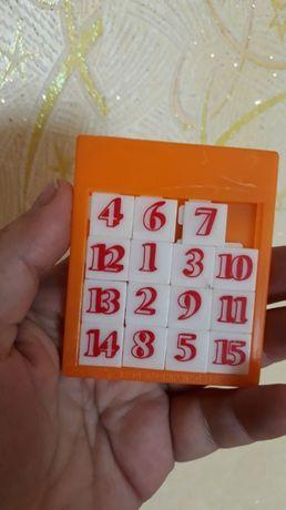 игра игрушка пятнашки цифры пластмасса