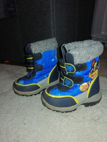 Buty zimowe roz 22 chłopięce