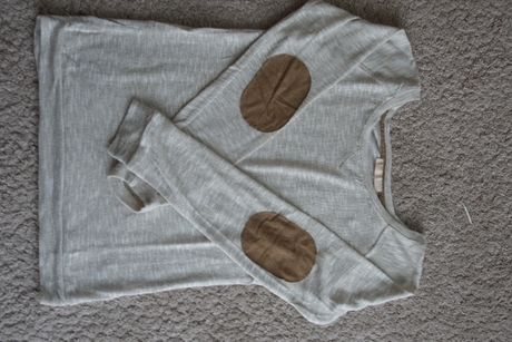 Sweterek Bershka beżowy, bluzka