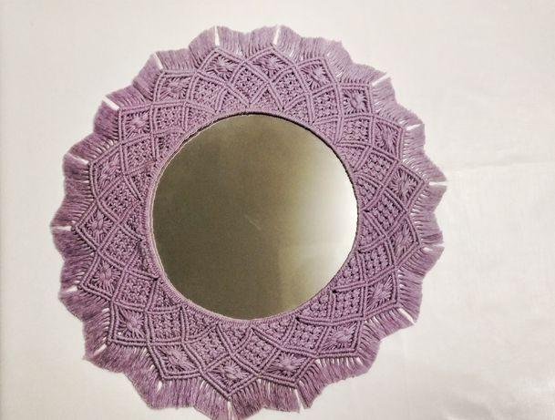 Зеркало мандала макраме