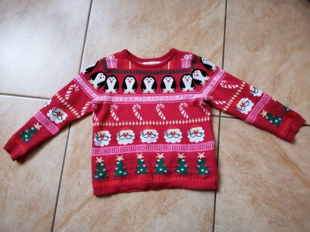 Sweter dziewczęcy H&M 98/104