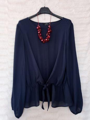 Granatowa zwiewna bluzka Reserved rozm. 36