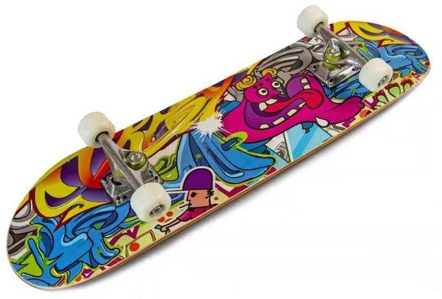 """Скейт деревянный для трюков скейтборд """"Graffity"""" до 85 кг"""