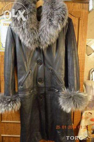 Пальто женское кожаное трансформер