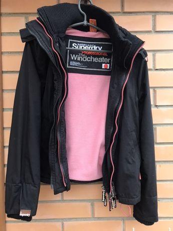Куртка superdry размер S теплая крутая