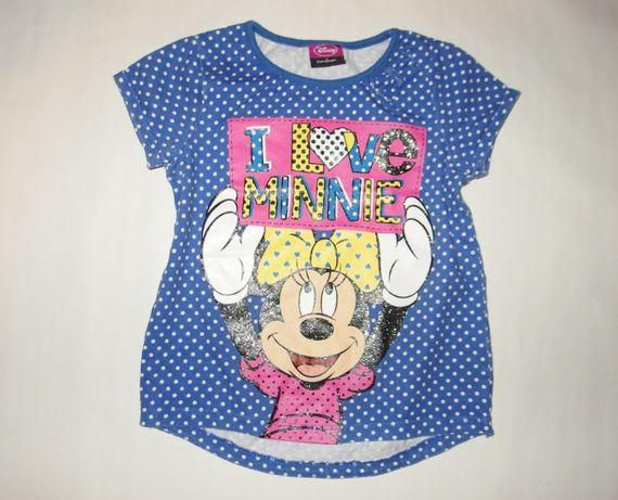 Disney koszulka w groszki z myszką minnie bluzka na lato 92 / 98