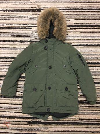 Куртка C&A тепла зимова для хлопчика 134р.