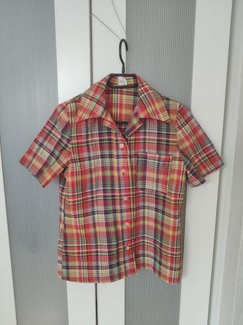Koszula w kratkę z wiskozą