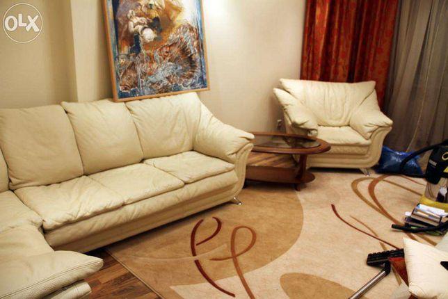 Элитный кожаный диван и кресло фирмы Ekmi (Италия-Украина)