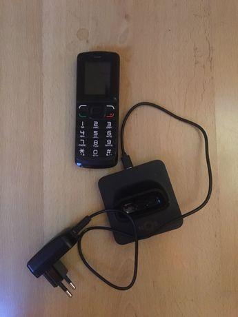 Telefone Preto Portatil - usado