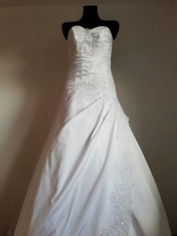 Suknia ślubna NOWA rozm. 38 wzrost 170cm +obcas Nowa cena!