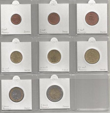 Moedas euro França 2001 (set completo 8 moedas)