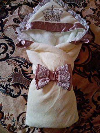 Зимний конверт-одеяло и теплый человечек