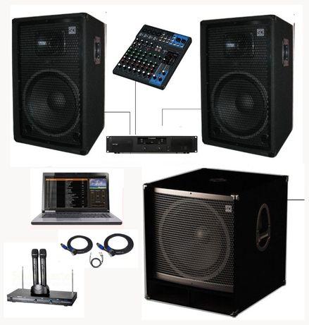 Караоке-система Sound Division KARDJ15Sub18+ с ноутбуком и сабвуфером