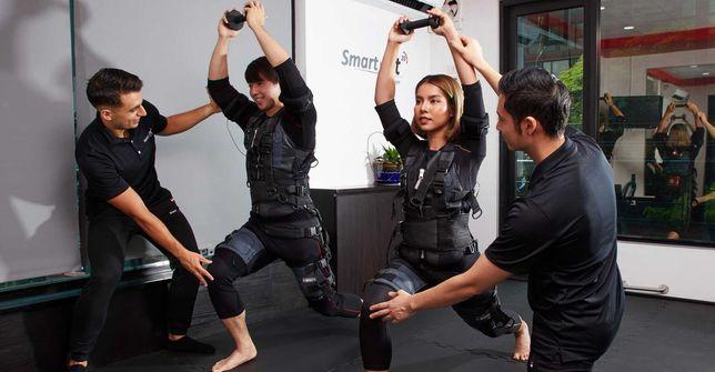 Dochodowy fitness fizjoterapia nowoczesne treningi w kombinezonach EMS