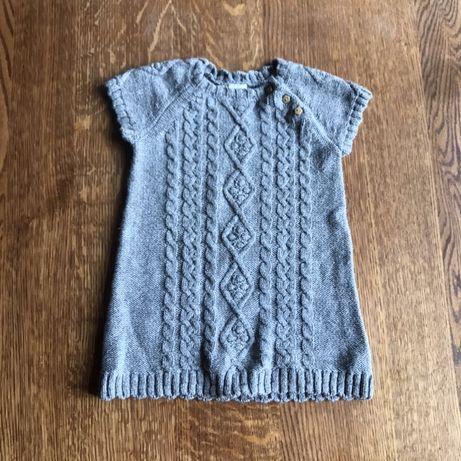 Sweterkowa sukienka H&M, rozm. 80