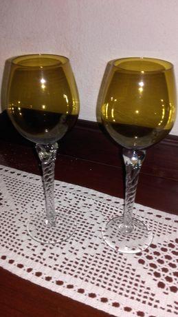 Dois copos/castiçais de pé alto para decorar