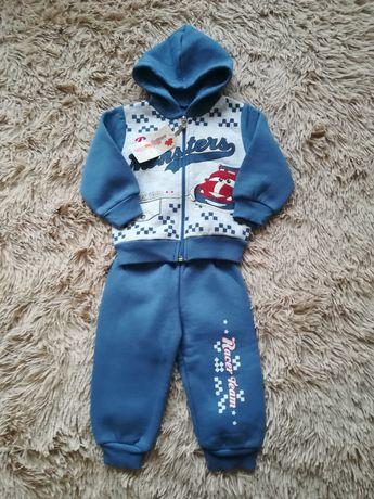 Продам новий теплий спортивний костюм 9 -12 міс(кофта, штани)