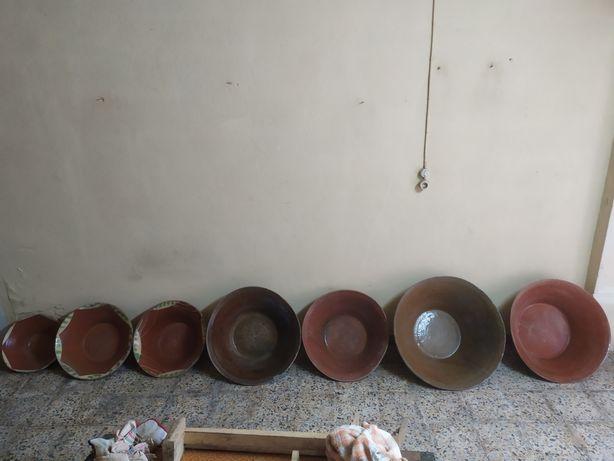 Conjunto de Alguidares de barro