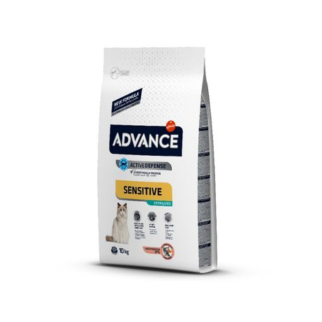 Advance Cat Sensitive Sterilised - Salmão & Cevada 10Kg