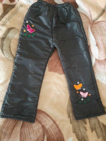 Штаны для девочки утепленные