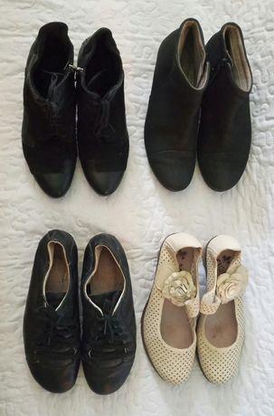 Демисезонные ботинки, туфли, нарядные, Ecco, полуботинки 37 р